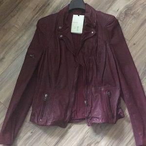Muubaa leather moto jacket size US8 Uk12
